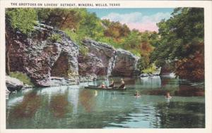 Texas Mineral Wells The Grottoes On Lovers' Retreat 1937