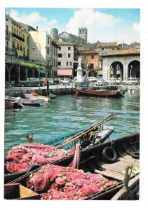 Italy Desenzano Lago Garda The Little Harbor Lombardy Brunner 4X6 Postcard