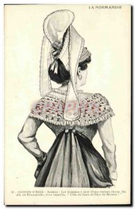 Postcard Old Bayeux Normandy Dentellieres Folklore Costume Cap