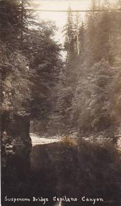 RP, Suspension Bridge, Capilano Canyon, British Columbia, Canada, 1920-1940s
