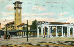 Dayton Ohio~Engineer's Booth~Beaux Arts Collonade @ Union Railroad Station 1909