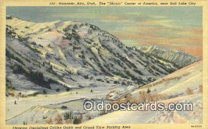 Collins Gulch, Alta, Utah, UT USA Skiing Postcard Post Card Old Vintage Antiq...