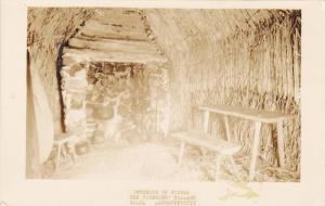 RP, Interior Of Wigwam, The Pioneers' Village, Salem, Massachusetts, 1920-1940s