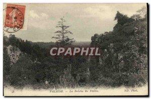 Old Postcard Cliff La Breche Devil