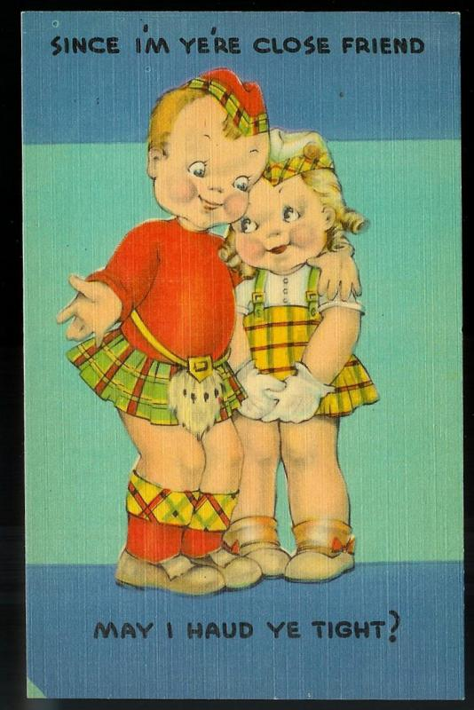 May I Haud Ye Tight? unused c1930's/1940's