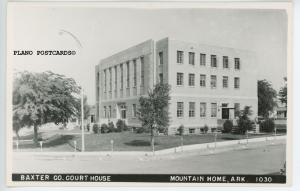BAXTER COUNTY COURT HOUSE, MOUNTAIN HOME, AR, RPPC Postcard