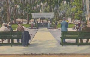 Florida Orange Park Outdoor Shuffleboard Courts At Moosehaven Curteich