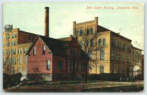 Janesville Wisconsin~Beet Sugar Factory~Close Up Offices~Windvane~1910 Postcard