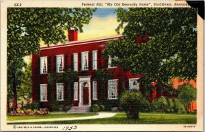 VTG Postcard Federal Hill Old Kentucky Home Bardstown 1953 John Rowan Sr  271