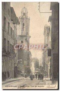 Old Postcard Aix en Provence Street Esparrial Tour des Augustins