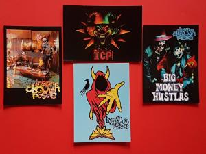 Set of 4 Postcards INSANE CLOWN POSSE ICP American Hip Hop Duo