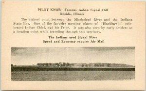 Vintage AIR MAIL Advertising Ephemera Oneida, Illinois PILOT KNOB Unused