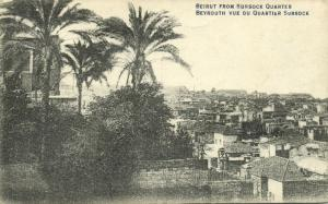 lebanon, BEYROUTH BEIRUT, General View from Sursock District (1920s)