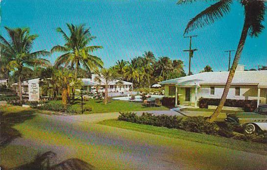 Florida Lake Worth White Manor With Pool 1961