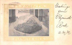 Plymouth Rock Massachusetts Postcard