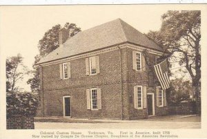 Pennsylvania Yorktown Colonial Custom House 1st In America 1706 Albertype