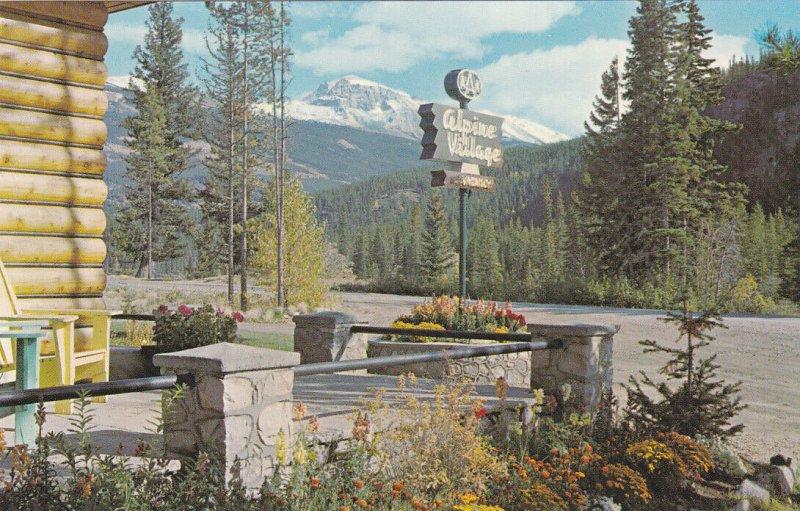 JASPER NATIONAL PARK, Alberta, 1940-60s; View of Mt. Tekarra from Alpine Village