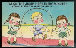 I'm on the Jump Here Every Minute! unused c1930's/1940's