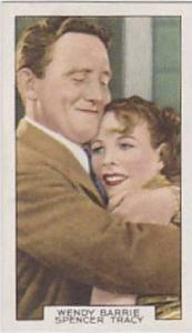 Gallaher Cigarette Card Film Partners No 21 Wendy Barrie And Spencer Tracy In...