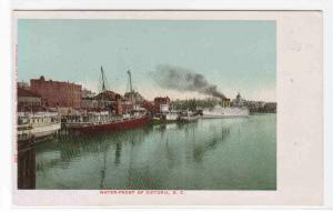 Steamer Water Front Victoria BC Canada 1905c postcard
