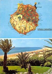 Spain Gran Canaria Island Map Playa Beach