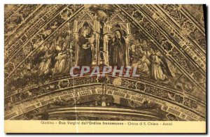 Old Postcard Assisi Pier Antonio da Foligro Due Vergini The dell Ordine Franc...