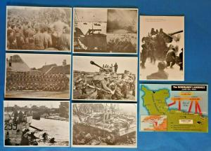 D - Day Landings Normandy WW2 World War 2 Postcard Collection of 8 June 1944