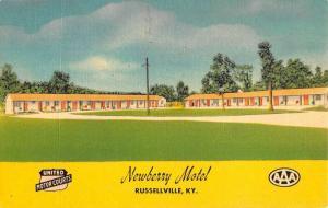 Russellville Kentucky Newberry Motel Street View Antique Postcard K80880
