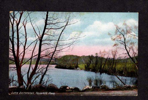 MA Vintage View Lake Saltonstall Haverhill Mass Massachusetts Postcard