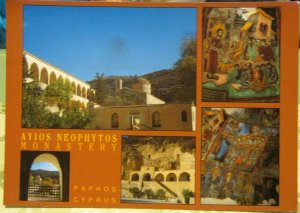 Cyprus Paphos Ayios Neophytos Monastery - unposted damaged