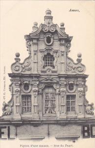Belgium Anvers Pignon d'une maison Rue du Fagot
