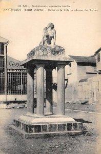 Martinique Post card Old Vintage Antique Postcard Statue de la Ville se relev...