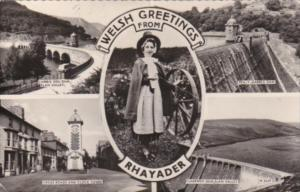Wales Welsh Greeting From Rhayader Multi View 1963 Real Photo