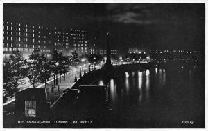 The Embankment Promenade Cleopatra's Needle River London by Night