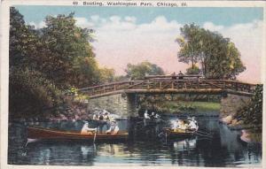 Illinois Chicago Boating In Washington Park