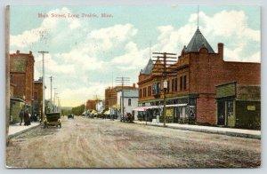 Long Prairie MN~Noble's Realty~Reichert Bldg~Dirt Main Street~Giant Sign 1911