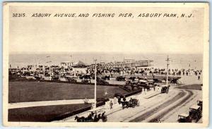 ASBURY PARK, New Jersey NJ    ASBURY AVENUE Fishing Pier  c1910s  Postcard