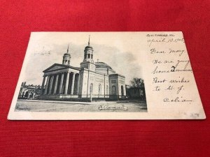 1905 postcard RC CATHEDRAL Baltimore MD pub Albertype Co, to Miss Mary Roderick