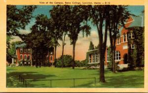 Maine Lewiston Campus View Bates College Dexter Press