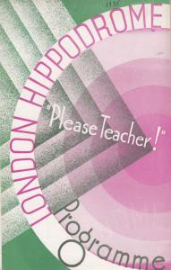 Please Teacher Pearl Green Musical London Hippodrome Theatre Programme