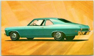 1969 CHEVROLET CHEVY NOVA Coupe Postcard Automobile Advertising Muscle Car