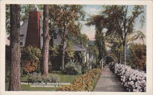 New York Saratoga Springs Walk In Chauncey Olcott's Gardens Curteich