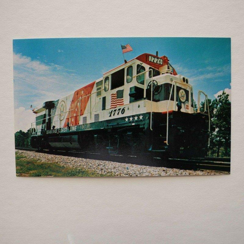 """Seaboard Coast Line Railroad's """"Spirit of '76"""" Vintage Postcard"""