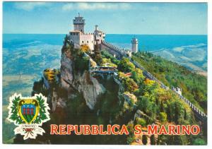 Repubblica di San Marino, Seconda e Terza Torre, unused Postcard