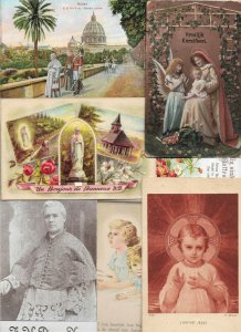 Beautiful Religion Postcard Lot of 20 With Angels The Pope And More 01.16