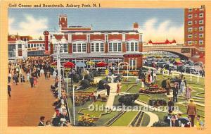Old Vintage Miniature Golf Postcard Post Card Golf Course and Boardwalk Asbur...