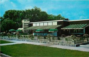 Chicago Illinois~Mortons Restaurant~Outdoor Seating~Metal Fence 1960 Postcard