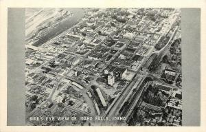 Vintage 1940s Postcard Birdseye View of Idaho Falls ID Bonneville Co. Unposted