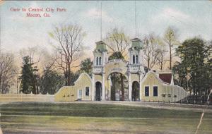 MACON, Georgia, PU-1910; Gate To Central City Park