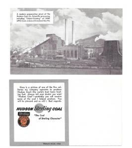 Hudson Sterling Coal Advertising Postcard